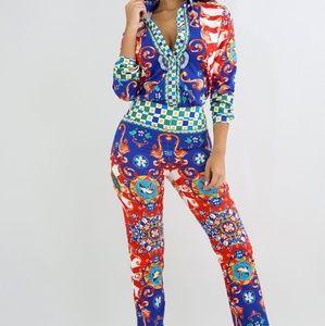 Banjul Set Blouse And Pants Size L